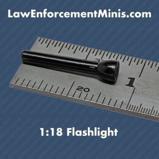 1:18 Scale Black Plastic Flashlight for model police cars diecast models